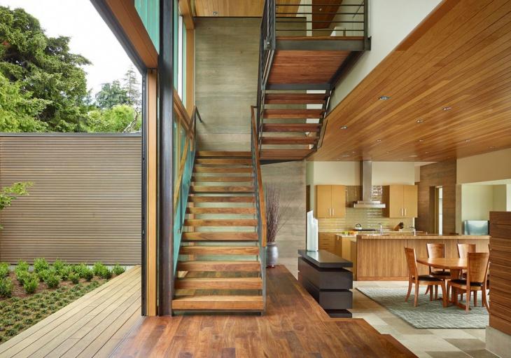 oak stair tread design