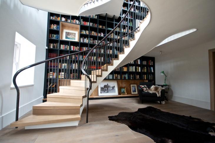 wooden spiral staircase design