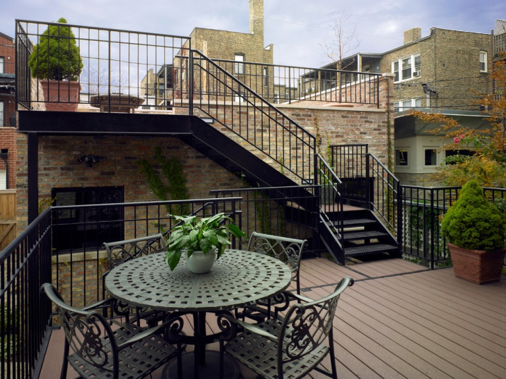 rooftop patio stairs