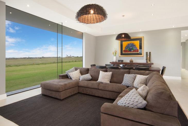 modern farmhouse living room interior design