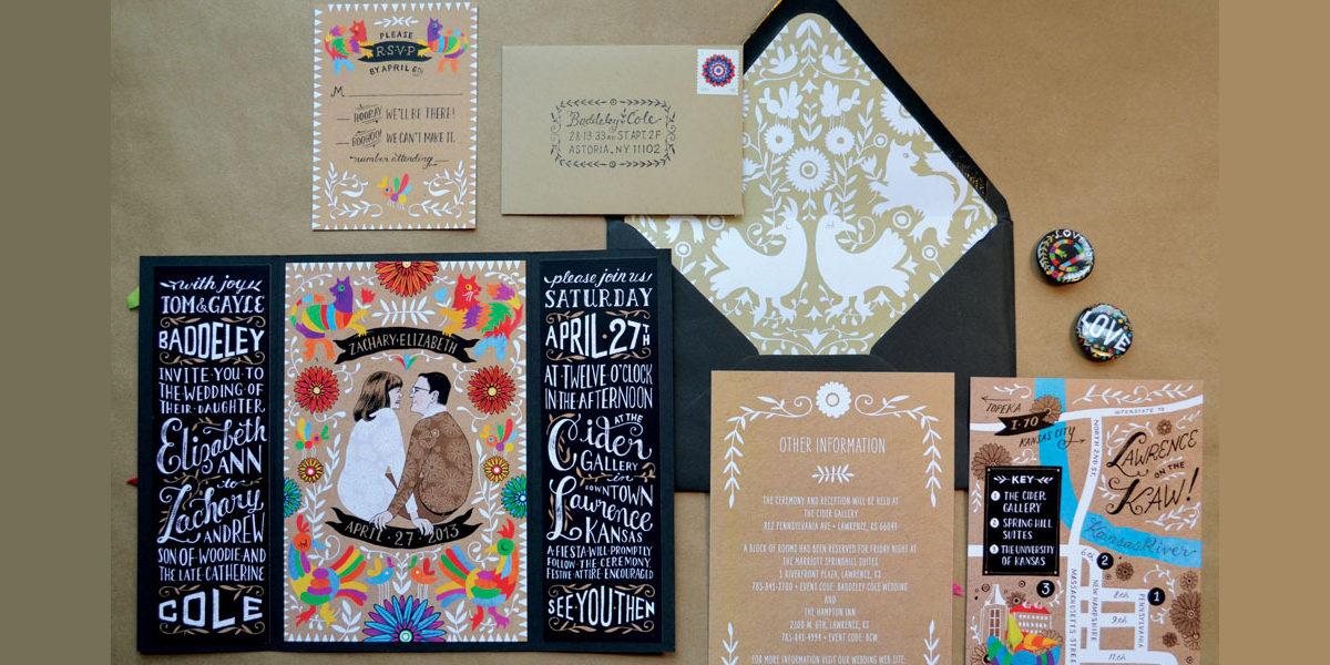 Festive Wedding Invitation