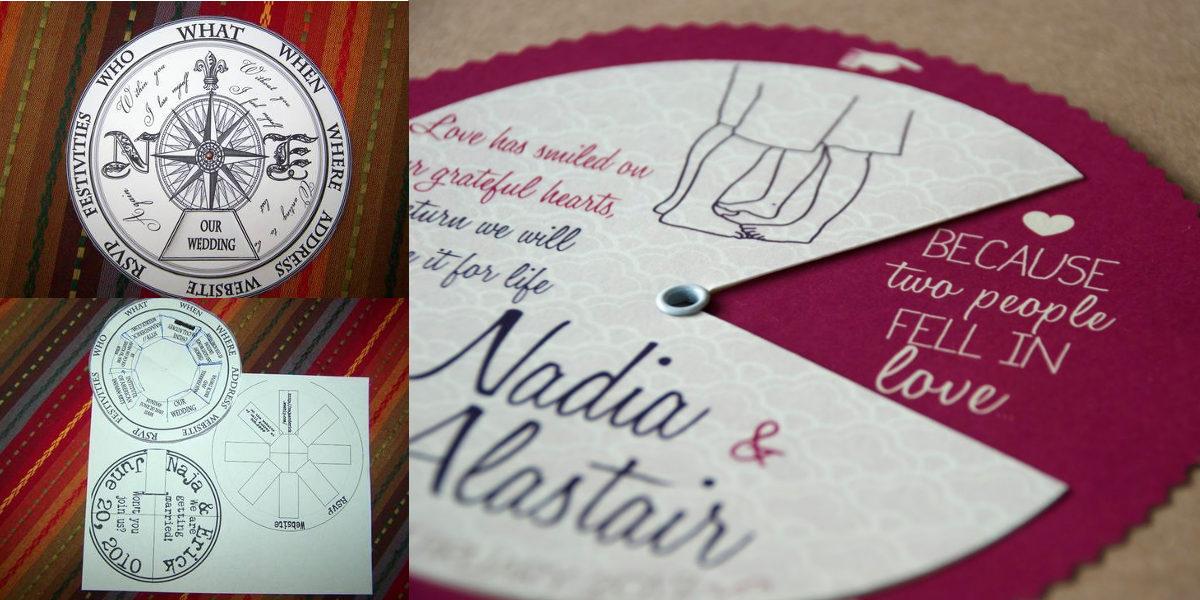 Moving Compass Wedding Invitation