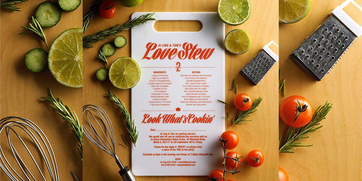 The Perfect Love Recipe Invitation