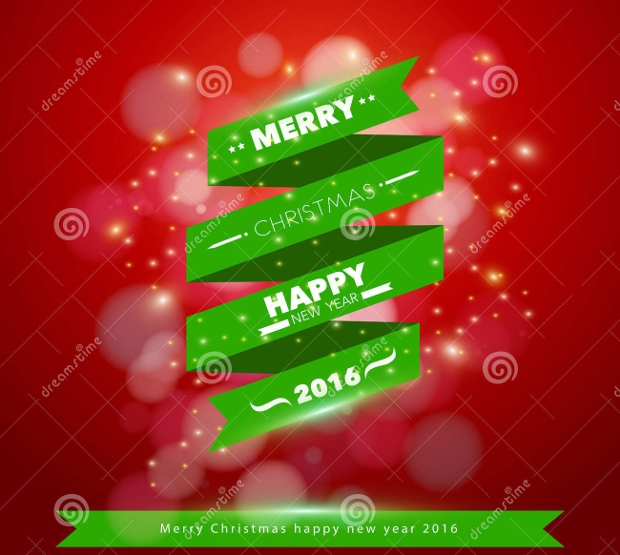 christmas ribbon banner design