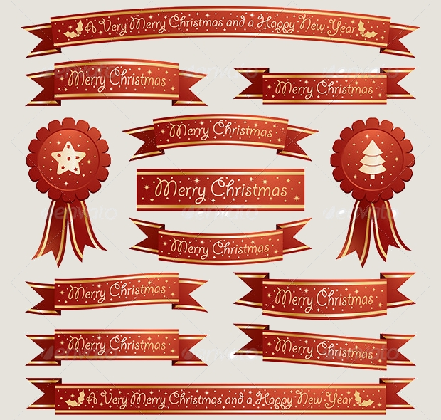 red christmas ribbon design