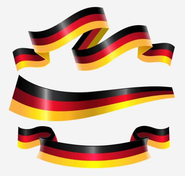germany flag ribbon design