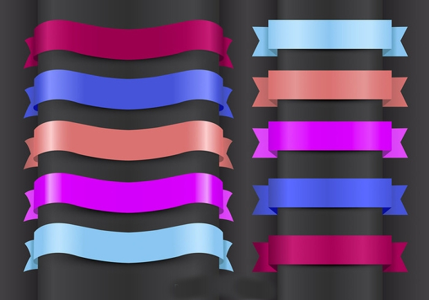 modern colorful ribbon design