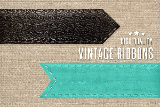 high quality vintage ribbon design