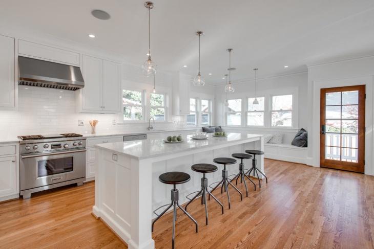Modern White Kitchen Interior Design