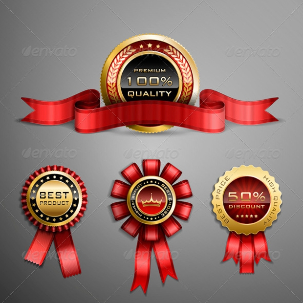 achievement award ribbon design
