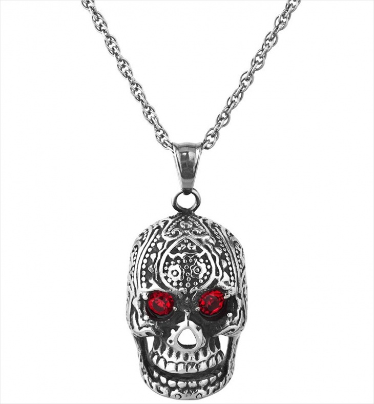 mens stainless steel skull jewelry