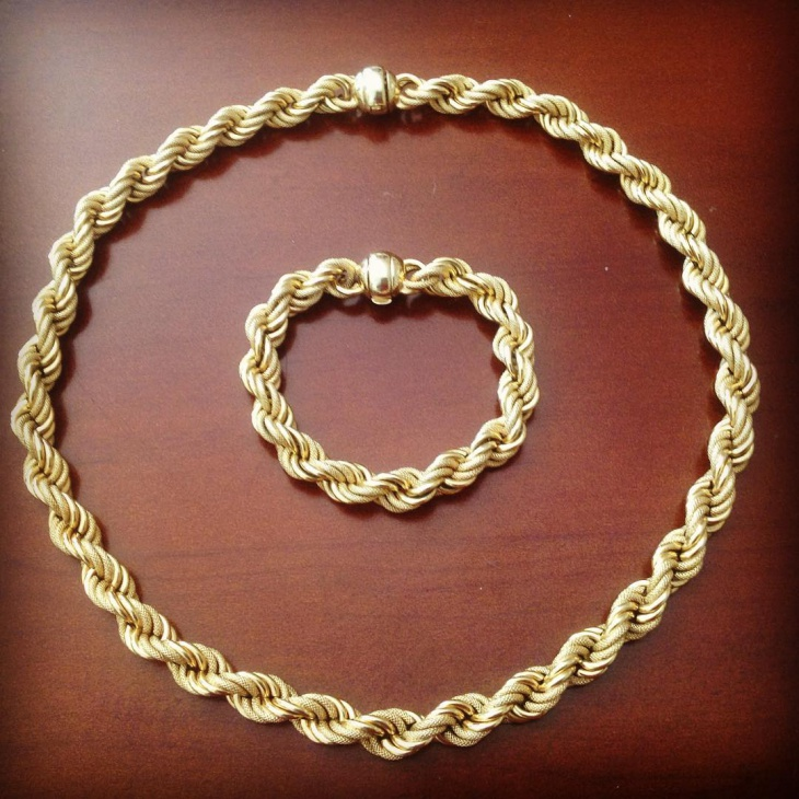 mens vintage gold jewelry
