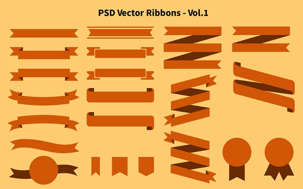 free vector ribbon design
