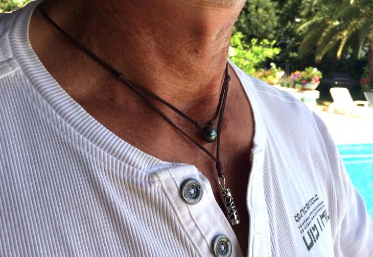 mens black pearl jewelry design