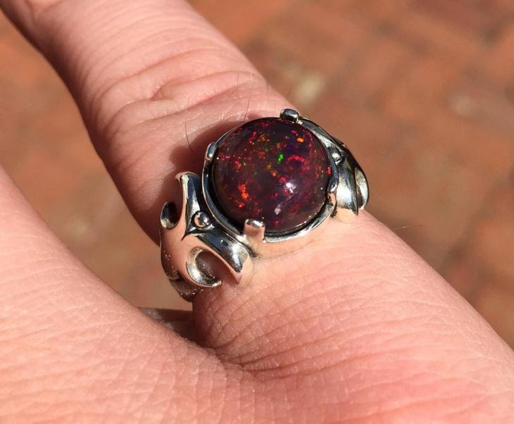 mens black opal jewelry