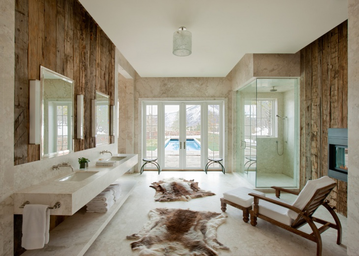 Modern Rustic Bathroom Interior Design