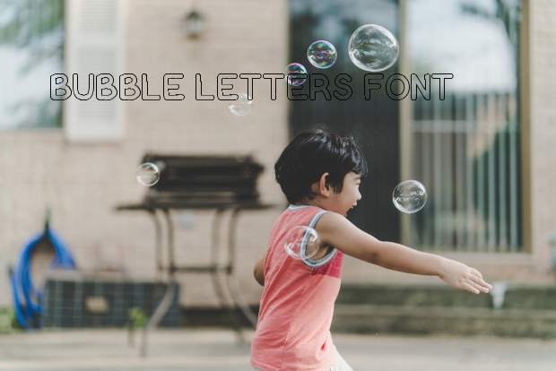 Bubble Letter Font Design