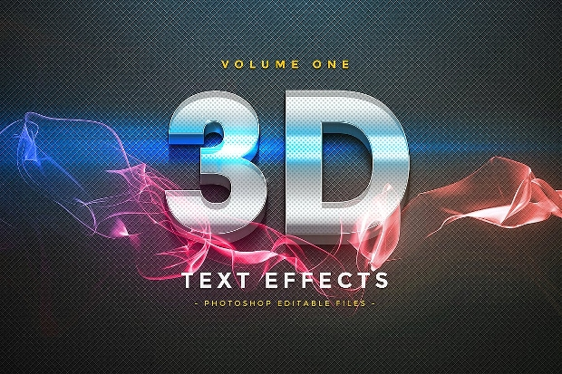 Photoshop 3D Glass Text Effect