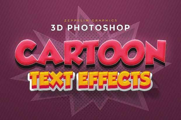 3D Cartoon Photoshop Text Effect
