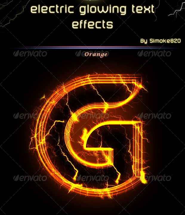 Electric Glowing Photoshop Text Effect