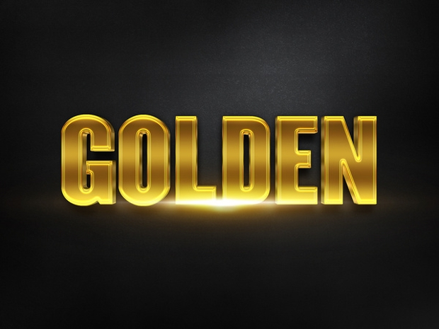 Free Golden Photoshop Text Effect