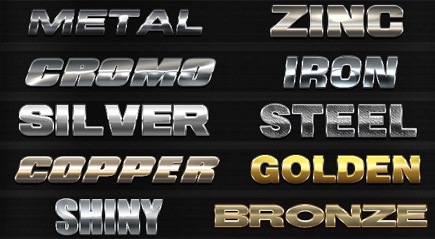 Chrome Metal Photoshop Text Effect