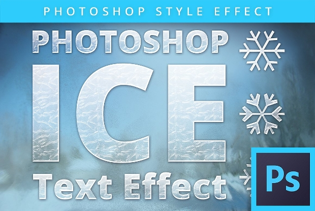 Frozen Ice Photoshop Text Effect