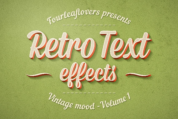 Vintage Retro Photoshop Text Effect