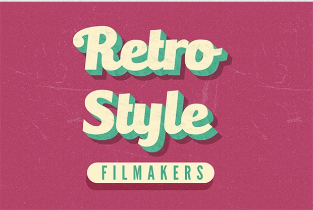 Clean Retro Photoshop Text Effect