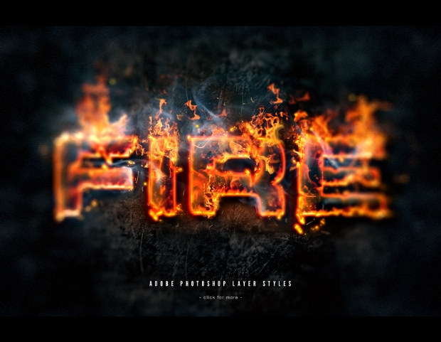 Realistic Fire Photoshop Text Effect
