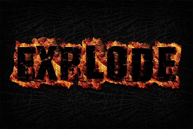 Red Fire Photoshop Text Effect
