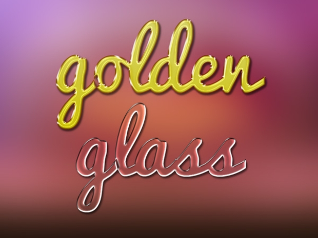 Photoshop Golden Glass Text Effect