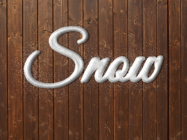 Real Snow Photoshop Text Effect