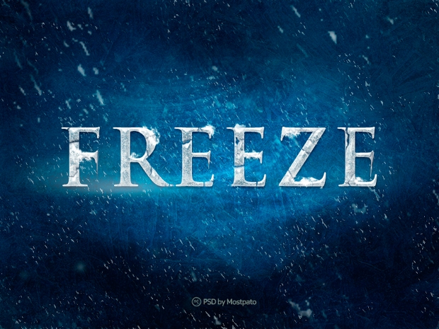 Freeze Photoshop Snow Text Effect