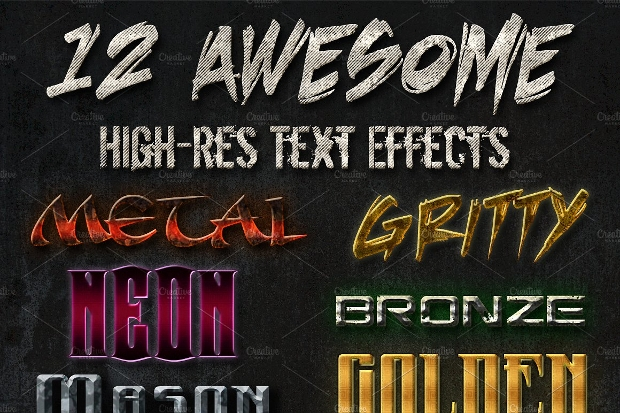 Photoshop Grunge Metal Text Effect