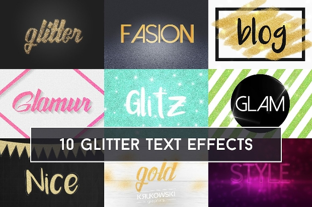 Sparkle Photoshop Glitter Text Effect