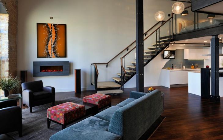 Modern Loft Living Room Interior
