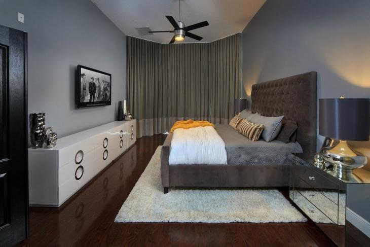 Modern Masculine Bedroom Interior