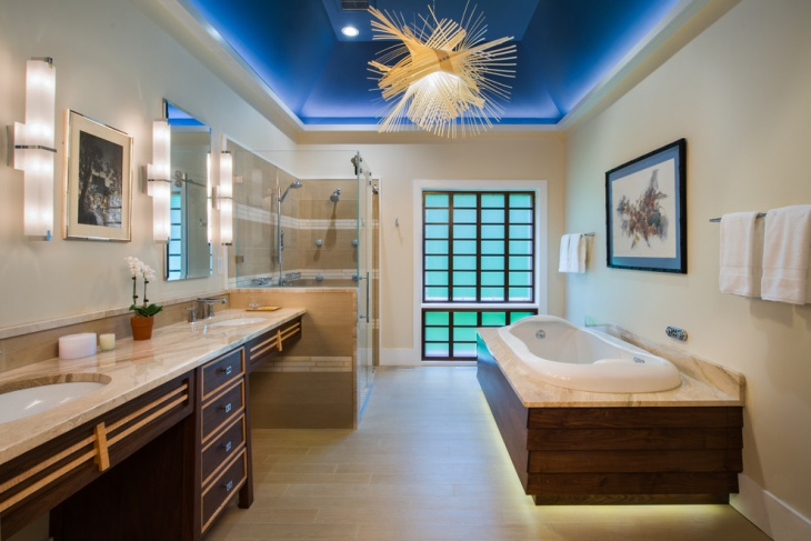 luxury bathroom lighting design
