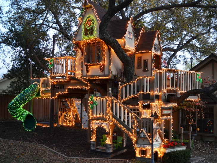 outdoor christmas lighting design
