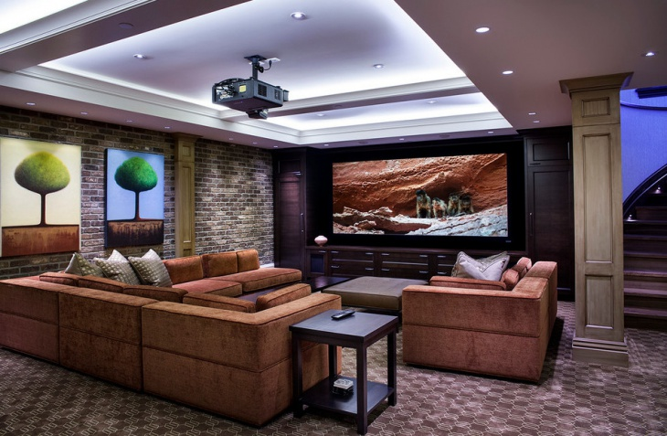 home theater ceiling lighting idea