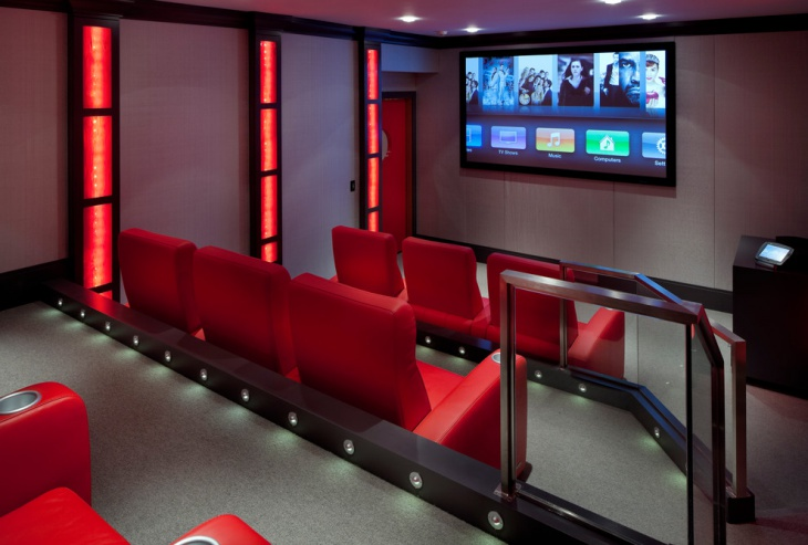 home theater floor lighting design