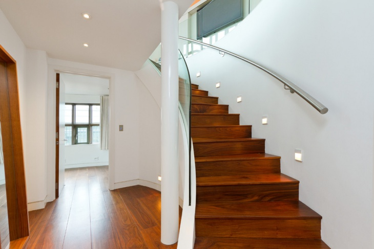 basement stair lighting idea