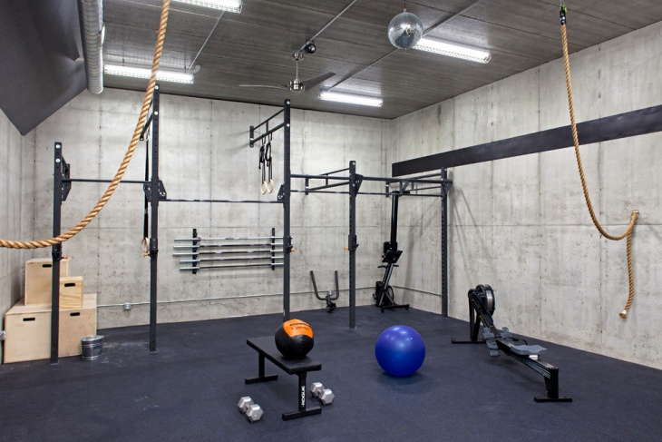 garage gym lighting idea