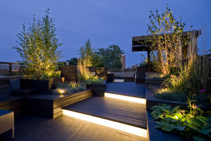 roof garden lighting idea