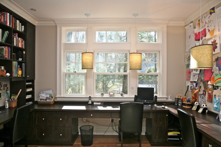 small home office lighting idea