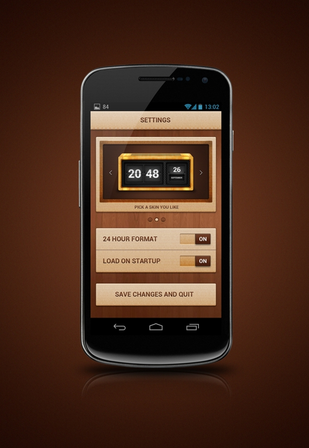 Android Widget App Design