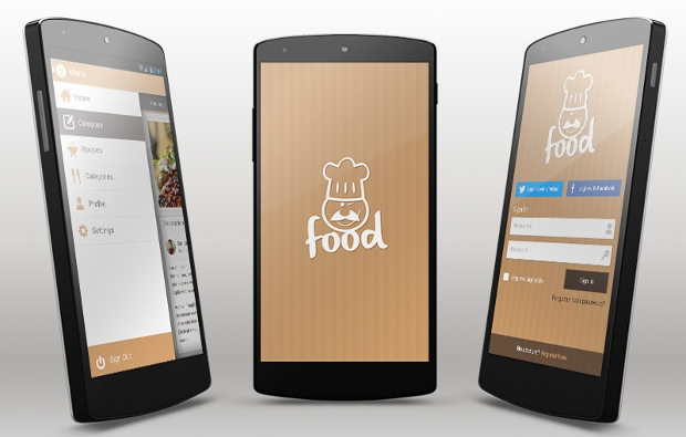 food android app design