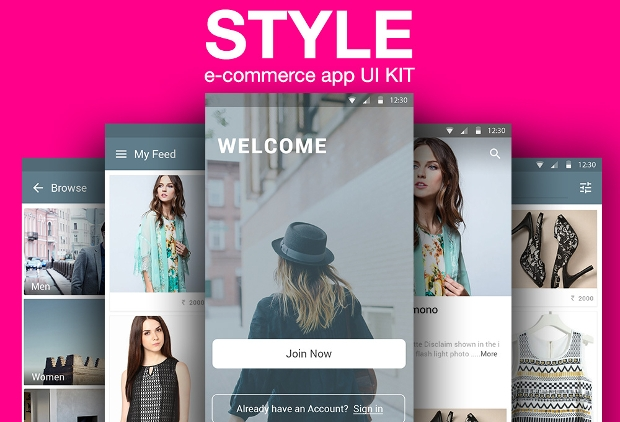 free e commerce app design