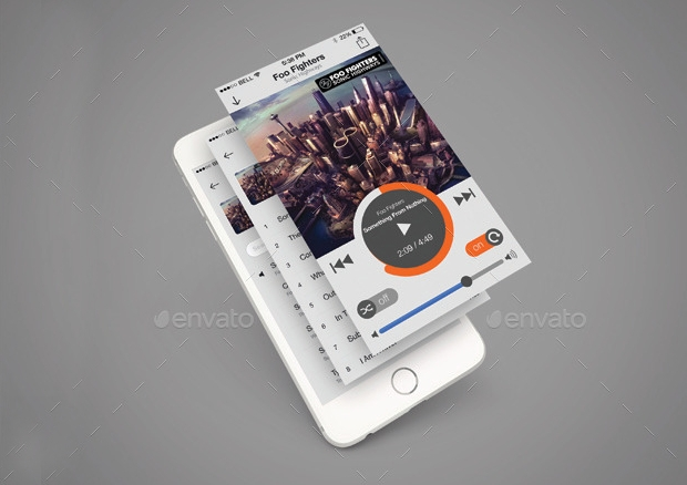 Mobile Music App Design